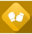 Icon of boxing gloves with a long shadow vector