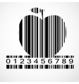 Barcode apple image vector