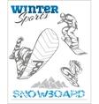 Snowboard - winter sport stock vector
