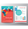 Abstract circle design brochure flyer layout vector