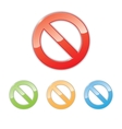 Prohibition signs vector