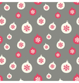 Retro style christmas baubles seamless pattern vector