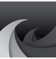 Swirly black and grey paper waves background vector