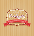 Best quality badge vector