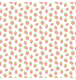 Cute strawberries seamless pattern vector