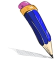 Pencil sketch cartoon vector