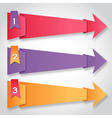 Origami paper colorful arrows with numbers vector