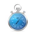 Blue stopwatch vector