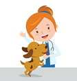 Cartoon veterinarian vector