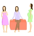 Fashion for pregnant women vector