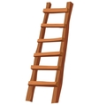 Wooden ladder vector