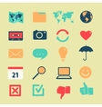 Set of symbols of widgets vector