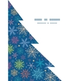 Colorful doodle snowflakes christmas tree vector