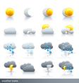 Weather icon set - meteorology vector