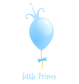Balloon with a gold crown background little prince vector
