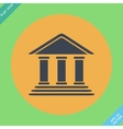 Bank building -  flat design vector