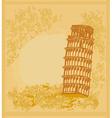 Pisa tower grunge background vector