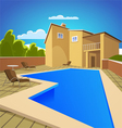 House with swimming pool vector