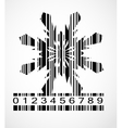 Barcode snowflake image vector