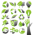 Ecology green icons vector