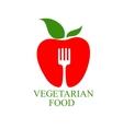 Vegetarian food icon vector