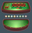Roulette table blackjack vector