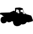 Articulated dumper truck silhouette vector