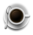 A topview of a cup of coffee vector