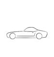 Abstract sport car profile silhouette vector