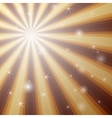 Background with shining star with divergent bundle vector