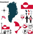 Greenland map small vector