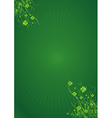Green background with clovers for st patricks day vector