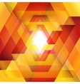 Moebius origami red and orange paper triangle vector