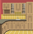 Kitchen room vector