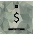Dollar polygonal background vector
