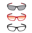 Group of an sunglasses vector