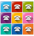 Buttons with telephones vector