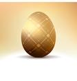 Golden egg with vintage pattern decoration eps 8 vector