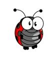 Smiling happy little ladybug or ladybird vector