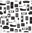 Home interior furniture seamless pattern vector