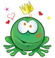 Frog cartoon crazy for love vector