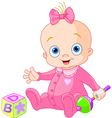 Sweet baby girl vector