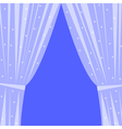 Window with curtain vector