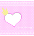 Pink background little princess vector