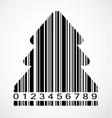 Barcode christmas tree image vector