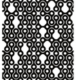 Abstract geometric black and white background vector