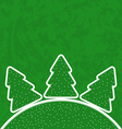 Green paper cut-out set christmas tree vector
