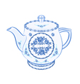 Teapot-faience vector