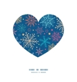 Colorful doodle snowflakes heart silhouette vector