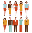 People characters set vector